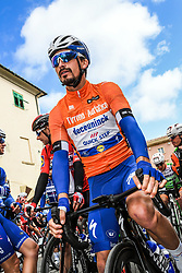 March 15, 2019 - Pomarance, Pisa, Italia - Foto Gian Mattia D'Alberto / LaPresse.15/03/2019 Pomarance (Italia) .Sport Ciclismo.Tirreno-Adriatico 2019 - edizione 54 - da Pomarance a Foligno  (226 km) .Nella foto:Julian Alaphilippe FRA..Photo Gian Mattia D'Alberto / LaPresse .March 15, 2018 Pomarance (Italy).Sport Cycling.Tirreno-Adriatico 2019 - edition 54 - Pomarance to Foligno (140 miglia) .In the pic: Julian Alaphilippe FRA (Credit Image: © Gian Mattia D'Alberto/Lapresse via ZUMA Press)