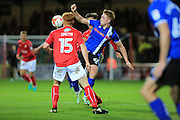 Tom Smith, Callum Camps during the EFL Sky Bet League 1 match between Swindon Town and Rochdale at the County Ground, Swindon, England on 18 October 2016. Photo by Daniel Youngs.