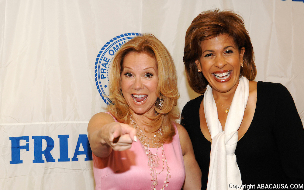 NBC broadcasters Kathie Lee Gifford and Hoda Kotb pose before Fran Drescher's Testimonial Lunch at the Friars Club in New York City, USA on May 15, 2008.