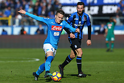 January 21, 2018 - Bergamo, Italy - Piotr Zielinski of Napoli  during the Italian Serie A football match Atalanta Vs Napoli on January 21, 2018 at the 'Atleti Azzurri d'Italia Stadium' in Bergamo. (Credit Image: © Matteo Ciambelli/NurPhoto via ZUMA Press)