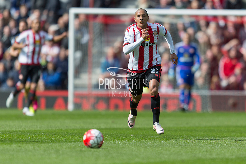 Sunderland's Midfielder Wahbi Khazri (22) in action during the Barclays Premier League match between Sunderland and Arsenal at the Stadium Of Light, Sunderland, England on 24 April 2016. Photo by George Ledger.