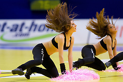 Cheerleaders Fenix during handball match between Iceland and Slovenia in  3rd Round of Preliminary Round of 10th EHF European Handball Championship Serbia 2012, on January 20, 2012 in Millennium Center, Vrsac, Serbia. Slovenia defeated Iceland 34-32. (Photo By Vid Ponikvar / Sportida.com)