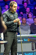 Action from the opening frames between Ronnie O'Sullivan vs Mark Selby during the 19.com Home Nations Scottish Open at the Emirates Arena, Glasgow, Scotland on 13 December 2019.