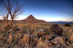 Stock photo of Mitre Peak - Davis Mountain Range, Jeff Davis County, Texas