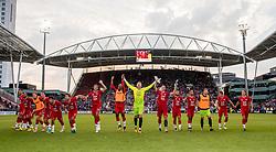 16-08-2017 NED: Europa League FC Utrecht - Zenit St. Petersburg, Utrecht<br /> Utrecht bedankt het publiek dat massaal achter de ploeg stond