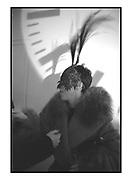 Isabella Blow.  Vanity Fair Swinging London Party. River Cafe. London.20 November 1996.<br /> Copyright Photograph by Dafydd Jones<br /> 66 Stockwell Park Rd. London SW9 0DA<br /> Tel. 0171 733 0108