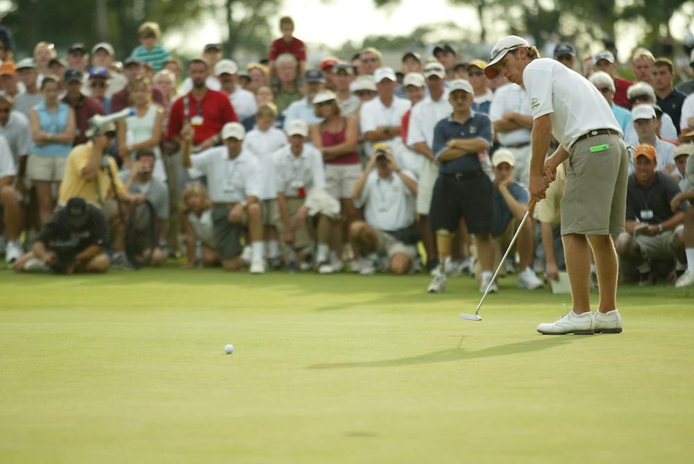 Nick Flanagan.2003 US Amateur Championship.Finals.Oakmont Country Club.Oakmont, PA.Saturday, August 23, 2003.photograph by Darren Carroll