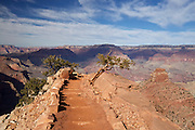 Rugged scenery on a portion of the South Kaibab Trail, in Grand Canyon National Park, Arizona.