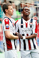 Onderwerp/Subject: Willem II - Eredivisie<br /> Reklame:  <br /> Club/Team/Country: <br /> Seizoen/Season: 2012/2013<br /> FOTO/PHOTO: Virgil MISIDJAN (R) of Willem II celebrating his goal with Marc HOCHER (L) of Willem II ( 1 - 0 ). (Photo by PICS UNITED)<br /> <br /> Trefwoorden/Keywords: <br /> #02 $94 &plusmn;1355244121349<br /> Photo- &amp; Copyrights &copy; PICS UNITED <br /> P.O. Box 7164 - 5605 BE  EINDHOVEN (THE NETHERLANDS) <br /> Phone +31 (0)40 296 28 00 <br /> Fax +31 (0) 40 248 47 43 <br /> http://www.pics-united.com <br /> e-mail : sales@pics-united.com (If you would like to raise any issues regarding any aspects of products / service of PICS UNITED) or <br /> e-mail : sales@pics-united.com   <br /> <br /> ATTENTIE: <br /> Publicatie ook bij aanbieding door derden is slechts toegestaan na verkregen toestemming van Pics United. <br /> VOLLEDIGE NAAMSVERMELDING IS VERPLICHT! (&copy; PICS UNITED/Naam Fotograaf, zie veld 4 van de bestandsinfo 'credits') <br /> ATTENTION:  <br /> &copy; Pics United. Reproduction/publication of this photo by any parties is only permitted after authorisation is sought and obtained from  PICS UNITED- THE NETHERLANDS
