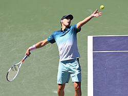 March 16, 2019 - Indian Wells, CA, U.S. - INDIAN WELLS, CA - MARCH 16: Dominic Thiem (AUT)  in action during his semifinal win in the BNP Paribas Open on March 16, 2019, at Indian Wells Tennis Garden in Indian Wells, CA. (Photo by Cynthia Lum/Icon Sportswire) (Credit Image: © Cynthia Lum/Icon SMI via ZUMA Press)