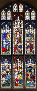 Stained glass window East Bergholt church, Suffolk, England, UK c 1881 by Clayton and Bell biblical scenes