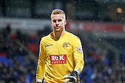 Bolton Wanderers goalkeeper Ben Amos  during the Sky Bet Championship match between Bolton Wanderers and Milton Keynes Dons at the Macron Stadium, Bolton, England on 23 January 2016. Photo by Simon Davies.