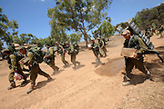 UNSPECIFIED, ISRAEL - JULY 18, 2014: Israeli soldiers on the move to an army deployment area near Israel's border with the Gaza Strip, on July 18, 2014.  Israel has launched a ground invasion into Gaza Strip, targeting terror tunnels. Photo by Gili Yaari