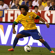 Marcelo, Brazil, in action during the USA V Brazil International friendly soccer match at FedEx Field, Washington DC, USA. 30th May 2012. Photo Tim Clayton