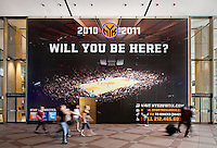 Ad outside Madison Square Garden promoting the New York Knicks' upcoming 2010-2011 basketball season.