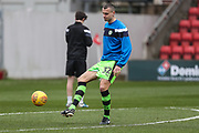 Forest Green Rovers Haydn Hollis(32) warming up during the EFL Sky Bet League 2 match between Swindon Town and Forest Green Rovers at the County Ground, Swindon, England on 13 January 2018. Photo by Shane Healey.