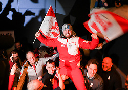 12.02.2018, Austria House, Pyeongchang, KOR, PyeongChang 2018, Medaillenfeier, im Bild David Gleirscher // during the Celebration of the gold medal of the Men' s Luge Singles competition of the Pyeongchang 2018 Winter Olympic Games at the Austria House in Pyeongchang, South Korea on 2018/02/12. EXPA Pictures © 2018, PhotoCredit: EXPA/ Erich Spiess