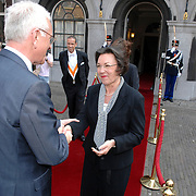 NLD/Den Haag/20070412 - Visit of Mr. Hans-Gert Pöttering, president of the European parliament to The Hague, welcomed by Mrs.Gerti Verbeet, president of the House of Representatives of States Gerneral..NLD/Den Haag/20070412 - President Europees Parlement Hans-Gert Pöttering bezoekt Den Haag, ontmoeting met de voorzitter van de 2de Kamer, Mw. Gerdi Verbeet.  ** foto + verplichte naamsvermelding Brunopress/Edwin Janssen  **