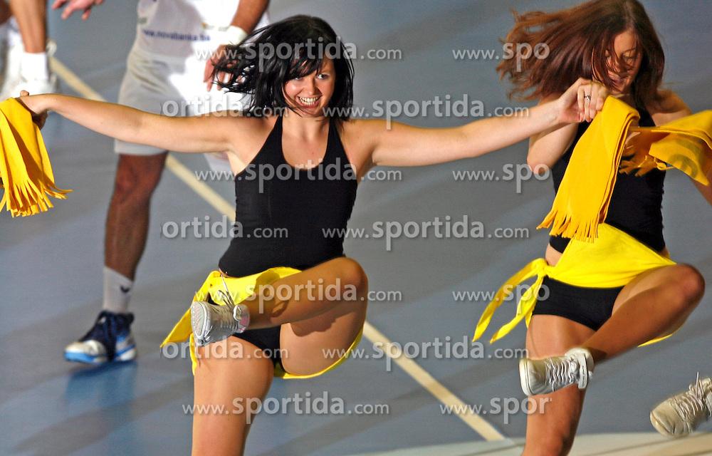 Dancers of dance group Ladies at handball game RK Gorenje Velenje v Bosna Sarajevo in 3rd round of EHF Championship league, on October 13, 2007 in Velenje, Slovenia. Win of Gorenje Velenje 30:27. (Photo by Vid Ponikvar / Sportal Images)
