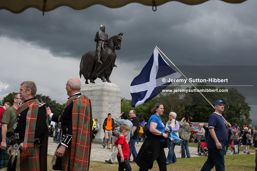 Bannockburn Live festivities, commemorating the 700 year anniversary of the Battle Of Bannockburn in which King Robert the Bruce and the Scots army defeated the English army under King Edward II, Bannockburn near Stirling, Scotland, Saturday 28th June 2014.