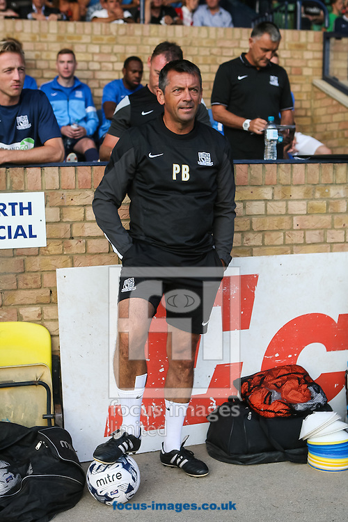 Southend United manager Phil Brown during the pre season friendly match at Roots Hall, Southend<br /> Picture by Daniel Chesterton/Focus Images Ltd +44 7966 018899<br /> 29/07/2014