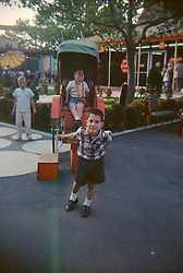 two little boys at the 1965 World's Fair in Flushing, Queens