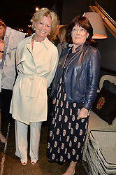 Left to right, SUE JONES and LUCINDA WATERHOUSE at a party to celebrate the publication of Flourish by Willow Crossley held at OKA, 155-167 Fulham Rd, London on 4th October 2016.