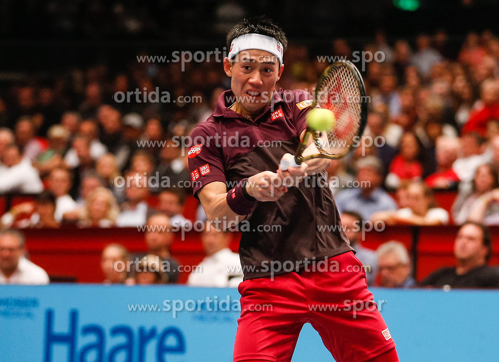 28.10.2018, Wiener Stadthalle, Wien, AUT, ATP Tour, Erste Bank Open, Finale, im Bild Kei Nishikori (JPN) // Kei Nishikori of Japan during the Final Match of the Erste Bank Open of ATP Tour at the Wiener Stadthalle in Wien, Austria on 2018/10/28. EXPA Pictures © 2018, PhotoCredit: EXPA/ Christian Hofer