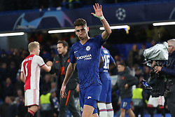 November 5, 2019: AMSTERDAM, NETHERLANDS - OCTOBER 22, 2019: Jorginho (Chelsea FC) pictured during the 2019/20 UEFA Champions League Group H game between Chelsea FC (England) and AFC Ajax (Netherlands) at Stamford Bridge. (Credit Image: © Federico Guerra Maranesi/ZUMA Wire)
