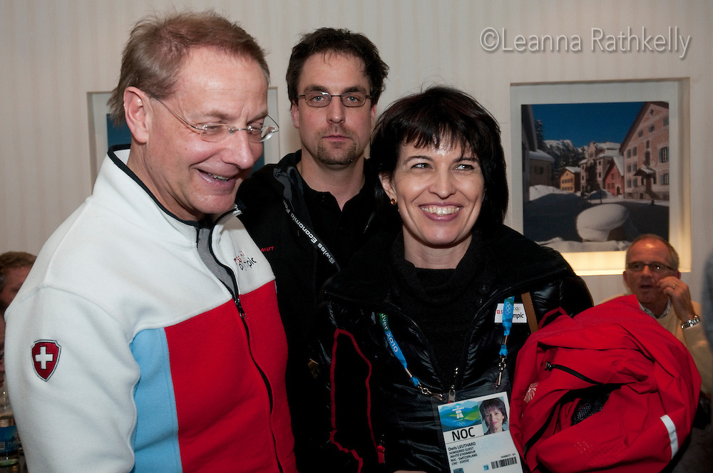 President of the Swiss Confederation, Doris Leuthard, enjoys lunch at the House of Switzerland in Whistler for the 2010 Olympic Winter Games in Whistler, BC Canada