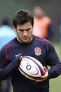 Surrey - Tuesday, February 23rd, 2010: England's Danny Care cleans the ball during training at Pennyhill Park Hotel ahead of the RBS Six Nations match against Ireland due to take place on Saturday 27th February 2010. (Pic by Andrew Tobin/Focus Images)