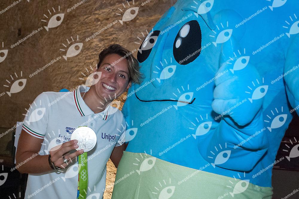 Rachele Bruni madrina degli europei Juniores<br /> Conferenza stampa di presentazione<br /> Castello di Piombino (Li)<br /> LEN 2016 European Junior Open Water Championships <br /> Europei Junior Acque Libere<br /> 03-09-2016<br /> Photo Laura Binda/Deepbluemedia/Insidefoto