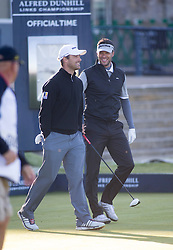 Michael Ballack (hat).  Alfred Dunhill Links Championship this morning at St Andrews.
