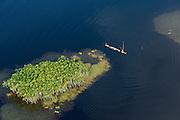 Fisherman in conservancy<br /> West Demerara Conservancy<br /> West of Georgetown<br /> GUYANA<br /> South America