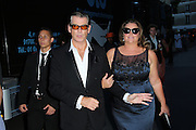 PIERCE BROSNAN, KEELY SHAYE  - ARRIVAL AT THE CELEBRITY FASHION SHOW MEN YVES SAINT LAURENT SPRING-SUMMER 2016 .<br /> ©Exclusivepix Media