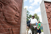 Khalid Sharrieff, 79, visits Chicago's first permanent memorial to Martin Luther King, Jr. on August 6, 2016, the day after it was introduced to the public in Marquette Park.