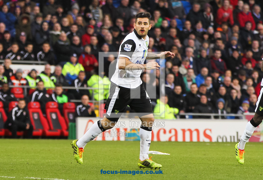 Picture by Tom Smith/Focus Images Ltd 07545141164<br /> 01/02/2014<br /> Bradley Johnson of Norwich City during the Barclays Premier League match at the Cardiff City Stadium, Cardiff.