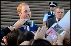 The Duke and Duchess of Cambridge leaving the Sydney Opera House after attending a reception following their arrival in Australia on the second leg of their Royal Tour of New Zealand and Australia, Wednesday, 16th April 2014. Picture by Andrew Parsons / i-Images