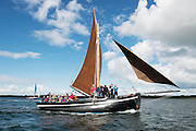 10/08/2014  Galway Hooker racing from Connemara to Kinvara during the annual Crinniu na mBad Festival. Photo:Andrew Downes