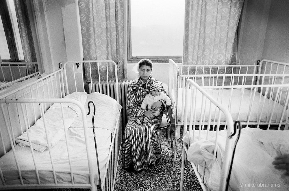 Maternity Unit at Bucharest Hospital. Romania Feb 1990