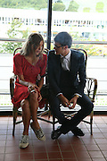 Isaac Ferry and Scarlett Strutt, Glorious Goodwood. 31 July 2007.  -DO NOT ARCHIVE-© Copyright Photograph by Dafydd Jones. 248 Clapham Rd. London SW9 0PZ. Tel 0207 820 0771. www.dafjones.com.
