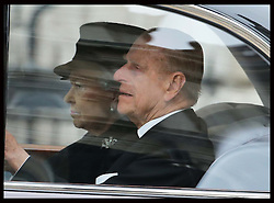 The Queen and Duke of Edinburgh arriving for  Baroness Thatcher's  funeral at  St.Paul's Cathedral in London  Wednesday 17th  April 2013 Photo by: Stephen Lock / i-Images