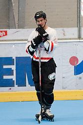 Ziga Pavlin of Kavke Kranj at IZS Masters 2010 inline hockey final match between HK Prevoje and Kavke Kranj, on June 12, 2010, in Ice Hall, Kranj, Slovenia. (Photo by Matic Klansek Velej / Sportida)