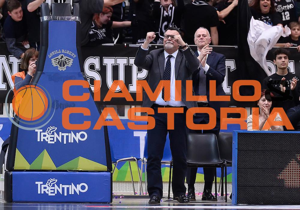 DESCRIZIONE : Eurocup 2015- 2016 Dolomiti Energia Trento - Cai Saragozza<br /> GIOCATORE : Luigi Longhi<br /> CATEGORIA : esultanza<br /> SQUADRA : Dolomiti Energia Trento<br /> EVENTO : Eurocup 2015-2016<br /> GARA : Dolomiti Energia Trento - Cai Saragozza<br /> DATA : 01/03/2016<br /> SPORT : Pallacanestro <br /> AUTORE : Agenzia Ciamillo-Castoria/R.Morgano