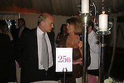 NICHOLAS COLERIDGE AND LADY ANNABEL GOLDSMITH, Cartier dinner in the Chelsea Physic Garden. 22 May 2006. ONE TIME USE ONLY - DO NOT ARCHIVE  © Copyright Photograph by Dafydd Jones 66 Stockwell Park Rd. London SW9 0DA Tel 020 7733 0108 www.dafjones.com
