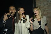 RICKY GAIDHU, DANIEL FALCO AND SARAH LOWE, Lucy Yeomans Editor of Harper's Bazaar and Moet and Chandon host the Gold Party. 17 Berkeley St. London W1. 1 November 2007. -DO NOT ARCHIVE-© Copyright Photograph by Dafydd Jones. 248 Clapham Rd. London SW9 0PZ. Tel 0207 820 0771. www.dafjones.com.