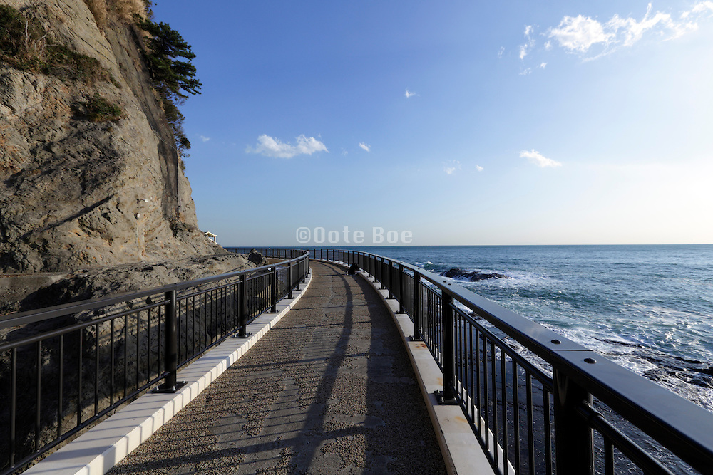 Japan Enoshima island at Chigogafuchi look out near the Iwaya Cave