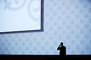 Businessman at UBS annual meeting, Zurich, Switzerland.