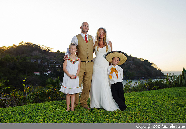 The Flower Girl and Ring Bearer: Courtney and Storm's Sayulita Wedding at Don Pedro's Palapa.   Image by Sayulita wedding photographer Michelle Turner.