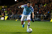 Riyad Mahrez (26) of Manchester City during the EFL Cup match between Oxford United and Manchester City at the Kassam Stadium, Oxford, England on 18 December 2019.